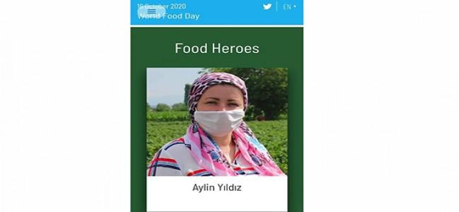 Aylin Yıldız, Dünya Gıda Kahramanları arasında!