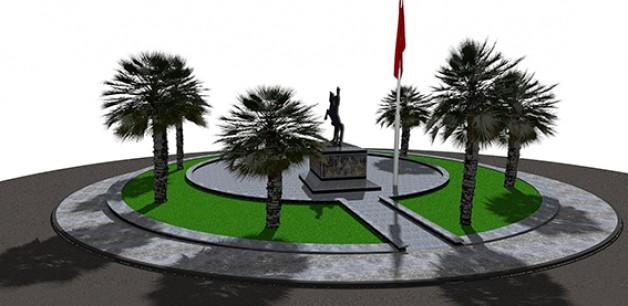 Atatürk Anıtı ve çevresi güzelleşiyor!