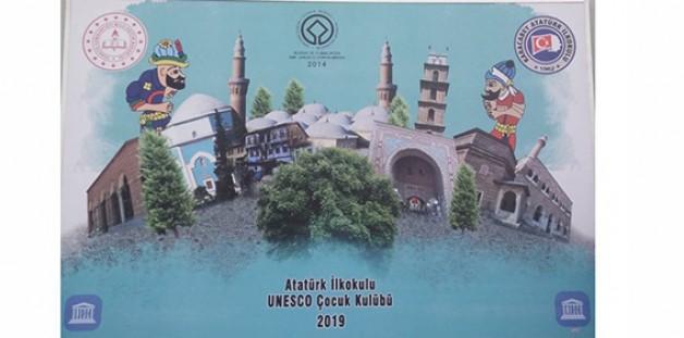 Bursa'da Unesco Çocuk Kulübü olan tek okul Atatürk İlkokulu!