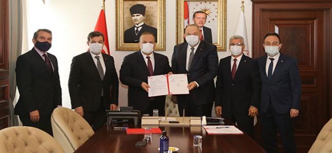 Borsa'dan 24 derslikli okul için imzalar atıldı