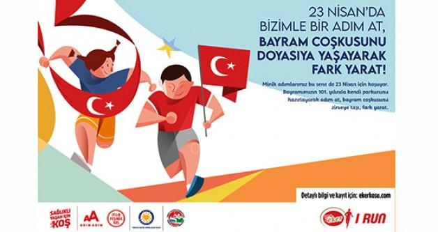 Yüzlerce çocuk 23 Nisan için koşacak