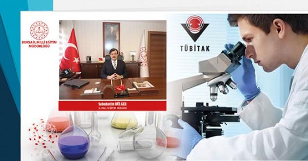 Bursa'da üç okuldan TÜBİTAK derecesi!