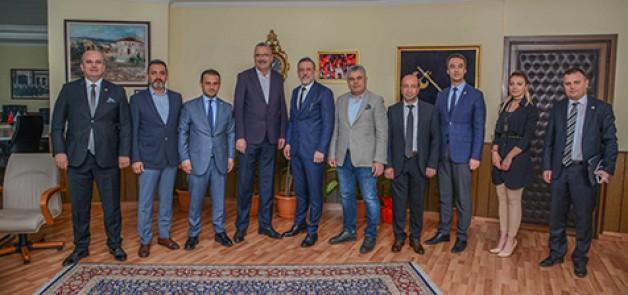 BTSO'dan Başkan Özkan'a ziyaret
