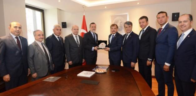 BTSO'dan Çavuşoğlu'na ziyaret