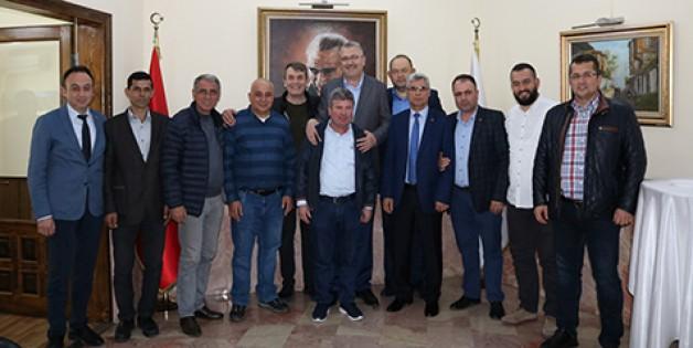 Borsa'dan tebrik ziyaretleri
