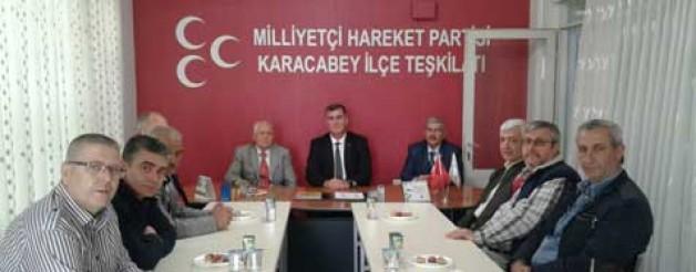 Bosna Sancak'tan MHP'ye ziyaret