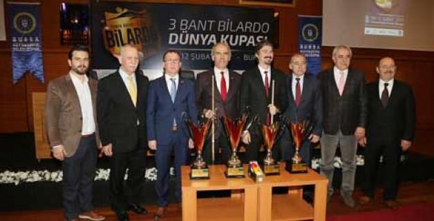Bursa'da bilardo heyecanı
