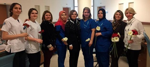 CHP'den Hastane ziyareti