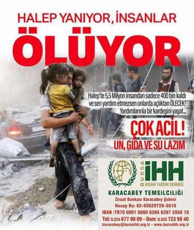 Halep yardım elinizi bekliyor