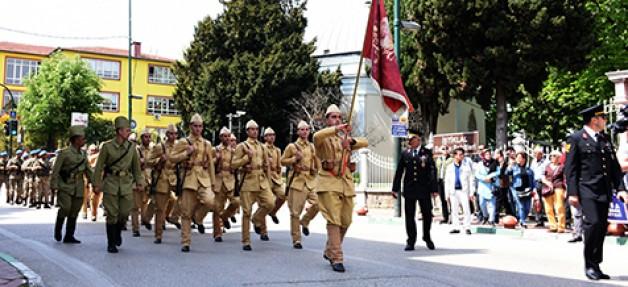 Jandarma taburuna temsili uğurlama