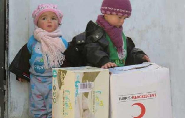 Kampanyayla toplanan yardım Halep'e ulaştı