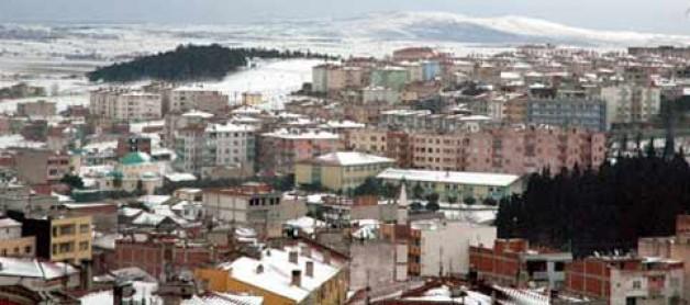 Karacabey'de hafif kar yağışı