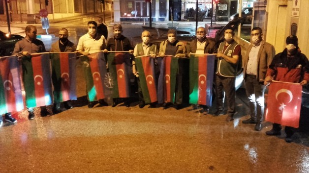 Karacabey'den Azerbaycan'a tam destek