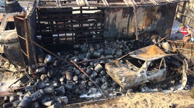 Karakoca yakınlarında feci kaza