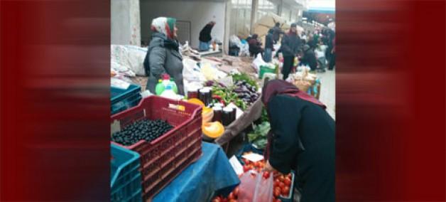 Köy Pazarı'nda 'moloz' tepkisi