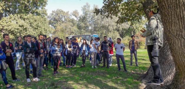 Öğrenciler longozu keşfetti