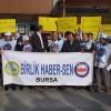 PTT çalışanları eylem yaptı