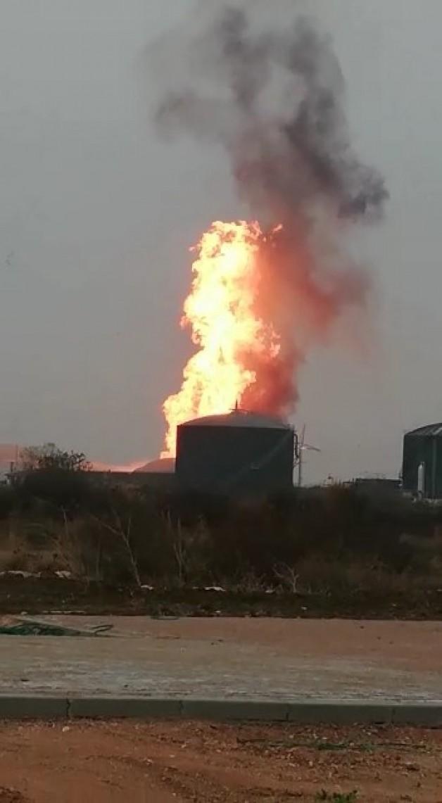 Sütaş'ın Biogaz Tesisi'nde korkutan yangın!