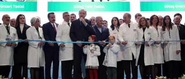 Sütaş'ın dev tesisi hizmete açıldı