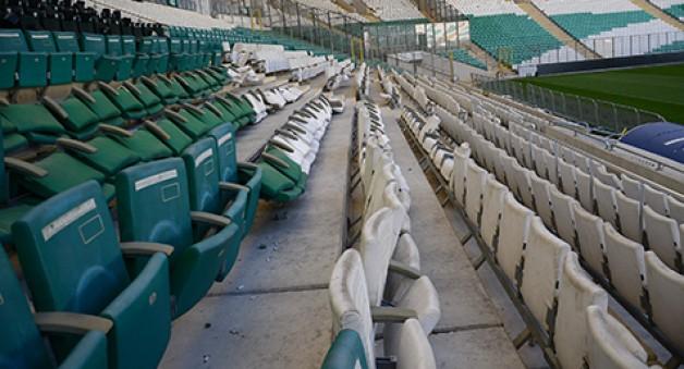 Stadyumda 1.5 milyon TL'lik zarar
