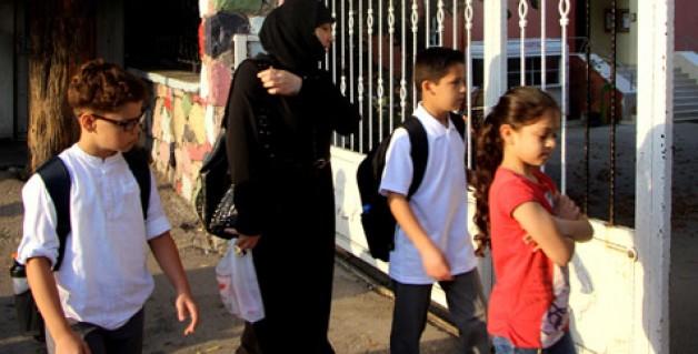 Suriyeli öğrencilerin ilk gün heyecanı
