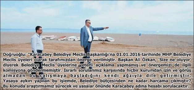 Yeniköy otoparkında kanuna muhalefet iddiası