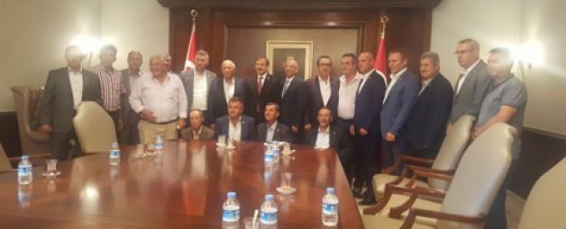Ziraat Odası başkanlarından Çavuşoğlu'na ziyaret
