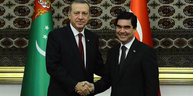 Cumhurbaşkanı Erdoğan'ın Türkmenistan temasları