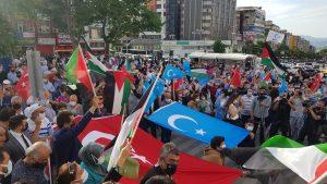 Bursa'dan İsrail'e adeta öfke yağdı-1